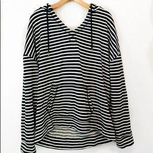 Banana Republic | Navy and White Striped Hoodie